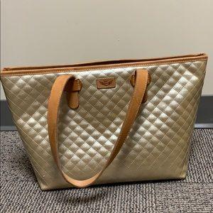 Consuela gold / cheetah print purse